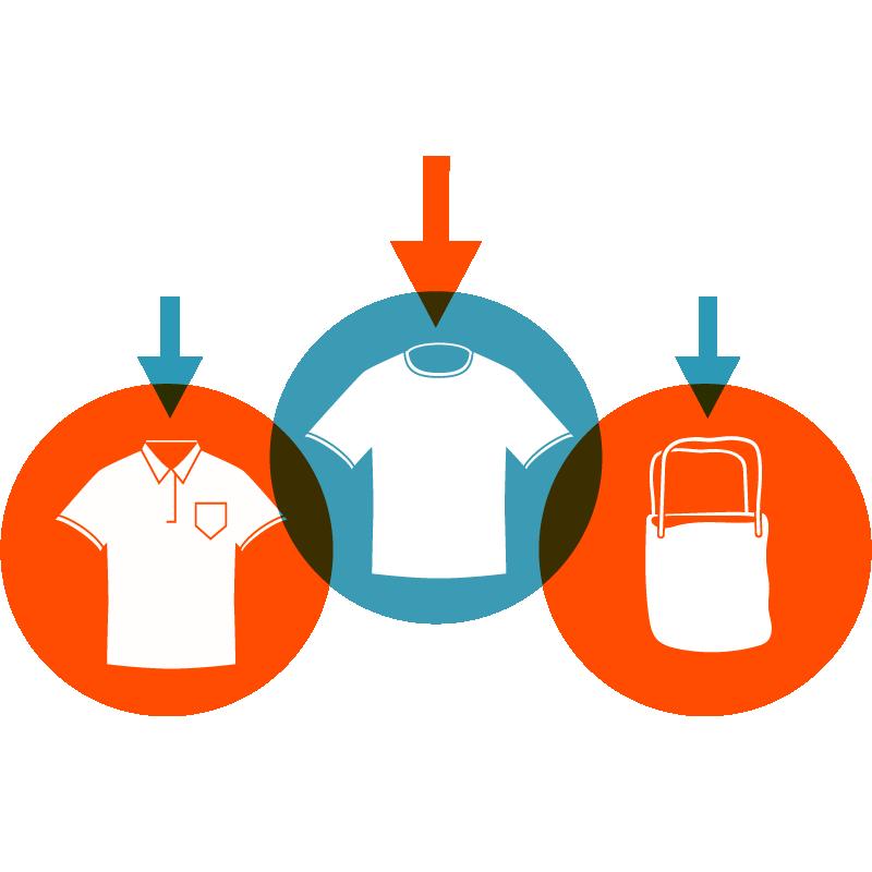 1 - Sélectionnez votre produit : Impression textile et Merchandising proposés par Garment Printing