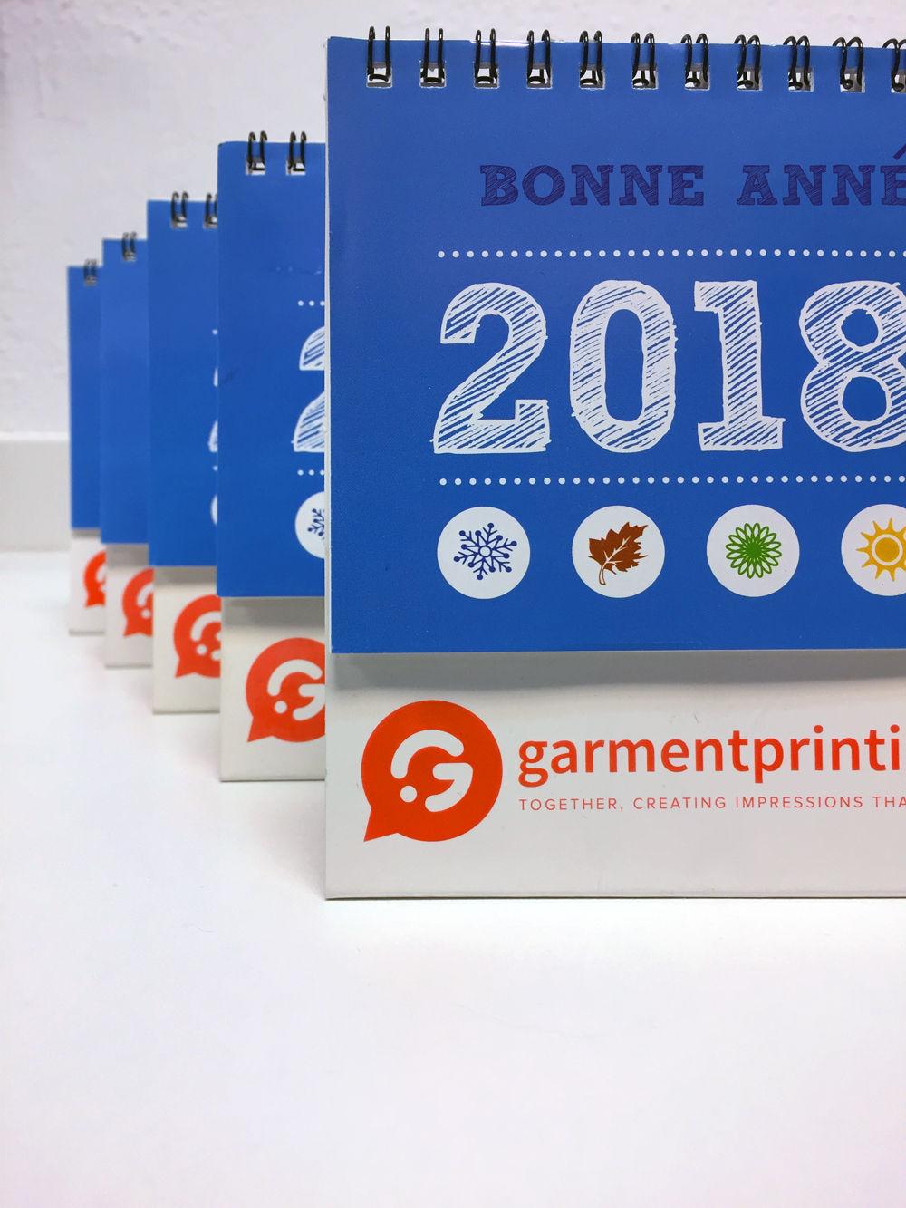 Calendriers personnalisés pour entreprise - Garment Printing